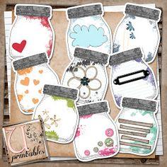 U printables by RebeccaB: FREE Printable - Mason Jars