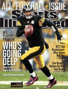On the Cover: Ben Roethlisberger, Football, Pittsburgh Steelers Photographed by: Damian Strohmeyer / SI Pittsburgh Steelers Football, Pittsburgh Sports, Pittsburgh Pirates, Here We Go Steelers, Steelers Stuff, Si Cover, Ben Roethlisberger, Sports Illustrated Covers, Nfl Playoffs