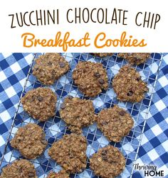 Zucchini for breakfast!? Yep. And bananas, oats, and nut butter, too. All in one transportable, super nutritious, tasty COOKIE.