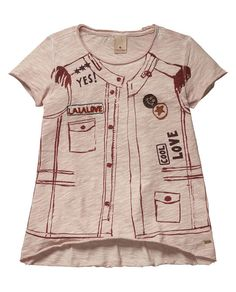 Printed Gilet T-ShirtPrinted Gilet T-Shirt Scotch&Soda