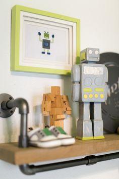 Robots: http://www.stylemepretty.com/living/2015/01/21/robot-space-nursery/ | Photography: Crosswhite - http://crosswhitephotography.com/