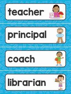 Teacher Tools, Teacher Pay Teachers, Classroom Word Wall, Student Binders, Kindergarten Freebies, Vocabulary Building, School Worksheets, Classroom Displays, Writing Resources
