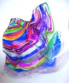 plastic bottle Chihuly art glass lesson found at Artastic