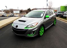 Green accented MazdaSpeed 3 Mazda 3 Speed, Mazda 6, Reliable Cars, Truck Mods, Toyota Cars, Green Accents, Amazing Cars, Awesome, American Muscle Cars