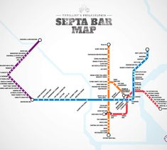 Finally, a reason to ride SEPTA! A BAR MAP OF THE SEPTA STOPS!!!