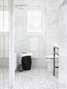 Don't let your floors be a blank slate -- a gorgeous tile pattern adds interest underfoot: http://www.bhg.com/bathroom/remodeling/planning/bath-details/?socsrc=bhgpin033115intricateflooring&page=8