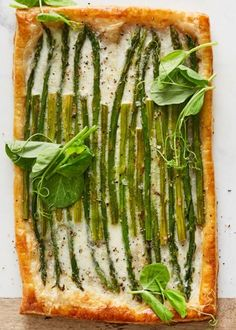 You don't have to be an accomplished baker to make this gorgeous spring tart; it's easy to assemble using frozen puff pastry.