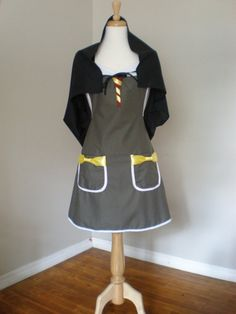 Harry Potter  inspired Costume Apron with cape by HauteMessThreads, $42.00