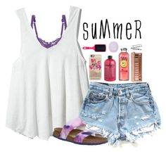 """""""Summer"""" by pineappleprincess1012 ❤ liked on Polyvore featuring Cosabella, Free People, Casetify, philosophy, Urban Decay, The Wet Brush, Topshop, BOBBY and Birkenstock"""