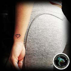 Small heart is a perfect choice for your sexy tattoo.
