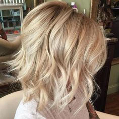 Medium Blonde Hairstyle - 40 Beautiful Blonde Balayage Looks - The Trending Hairstyle Hair Day, New Hair, Medium Hair Styles, Curly Hair Styles, Blonde Bob Hairstyles, Bob Haircuts, Trendy Hairstyles, Braided Hairstyles, Blonder Bob