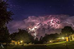 Lightning and star Trails. Citrus Springs, FL...