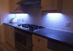 Under-Cabinet LED Lighting with Fade Effects