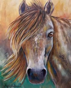 Horse Acrylic Painting Tutorial by Angela Anderson on YouTube #horse #acrylicpaint #art #horseart