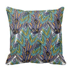 Feather Flower Variation design on pillow