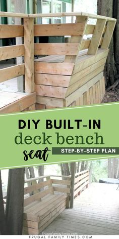 There are so many reasons to build deck bench seat! Your deck will be bigger, more useful and so much more attractive. By adding a bench to an existing deck you can make a deck upgrade on a budget. Here's our tutorial for building deck bench you will love to use. This DIY deck bench plan cost less than $200 - and made built-in seating we're proud of. Deck Bench Seating, Built In Seating, Outdoor Projects, Diy Projects, Project Ideas, Garden Fountains, Fountain Garden, Diy Deck, Diy Porch