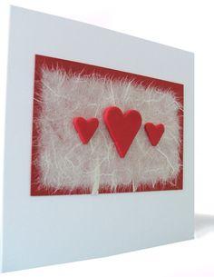 Handmade Hearts Wedding Card Dublin