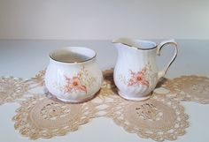 Vintage Cream and Sugar Set made by Sadler with a by Cream And Sugar, Teacups, Sugar Bowl, Bowl Set, Unique Jewelry, Handmade Gifts, Etsy, Vintage, Kid Craft Gifts