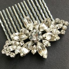 Bridal Hair Comb Wedding Hair Accessories Vintage by luxedeluxe, $54.00