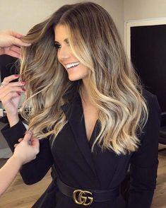 amazingly useful tips: sleek bun hairstyles shag hairstyles how to . amazingly useful tips: sleek bun hairstyles shag hairstyles how to . Dark Brown Hair With Blonde Highlights, Brown To Blonde Balayage, White Blonde Hair, Brown Ombre Hair, Ash Blonde, Ombre Balayage, Curly Blonde, Honey Highlights, Red Ombre