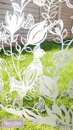 Love these! OMG, need to have them. Laser Cut Metal Panels © Rebecca Stoner www.rebeccastoner.co.uk