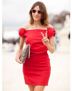 My fav Alexa Change in a Valentino dress and must have round plastic sunglasses (all available at net-a-porter.com)