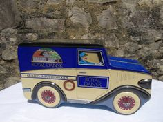 Royal Dansk biscuits  vintage Limited Edition tin plate delivery van.  Novelty tin in very good condition.