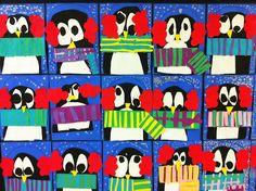 Apex Elementary Art: Bundled up Penguins.