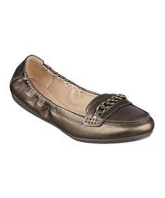 Look at this #zulilyfind! Bronze Gilford Leather Loafer #zulilyfinds