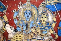 Kalamkari Paintings Kalamkari is an ancient form of painting that develop in India over a period of years. Kalamkari painting is . Kalamkari Painting, Silk Painting, Ancient Indian Art, Indian Temple, Used Parts, Travelogue, Princess Zelda, Drawings, Fabric