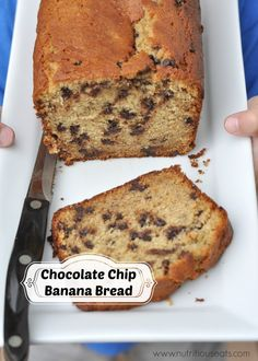 Chocolate Chip Banana Bread: Just made a mostly organic version of this, subbing greek yogurt for the buttermilk (it's what I had on hand), 1/2 cup of the (whole wheat) flour with flaxseed and used dark chocolate chips (more than the recipe called for, of course).  Definitely didn't need the whole hour (try 52 minutes)