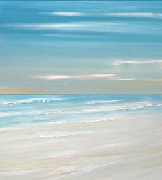 Beach ocean painting art print, seascape painting print, tropical art  by Francine Bradette-FREE S $40.00, via Etsy.