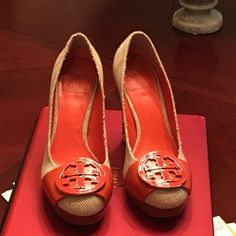 Authentic Tory burch heels Like new. Only signs of wear is under bottoms. Tory Burch Shoes Heels