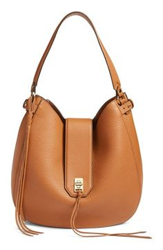 Free shipping and returns on Rebecca Minkoff 'Darren' Leather Hobo Bag at Nordstrom.com. Crafted from soft pebbled leather, this wardrobe staple features a slightly slouchy silhouette, a soft suede interior and two long, fringed tassels.
