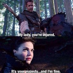 That moment when you meet your true love, but you don't know it yet! Robin and Regina