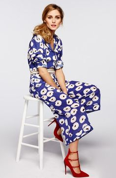Free shipping and returns on Olivia Palermo + Chelsea28 Floral Print Silk Culottes at Nordstrom.com. A minimalist floral print enlivens fluid silk culottes detailed with tonal blue piping at the waist and hems. The contemporary color palette and retro-inspired silhouette balance the polished look, which is part of an exclusive collection designed in collaboration with international style icon Olivia Palermo.