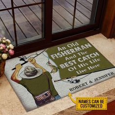 Jennifer Name, Old Fisherman, Old Couples, Coir Doormat, Trendy Colors, Vivid Colors, White Towels, Fishing Gifts, Time 7