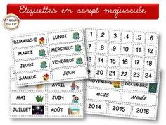 Tout pour septembre Core French, French Class, Maternelle Grande Section, Morning Board, French Kids, Home Management Binder, Toddler Schedule, Circle Time, Teaching French