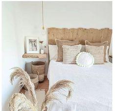 White Headboard, Online Furniture, Throw Pillows, Bedroom, Wood, Home Decor, Rustic Wood Headboard, Wood Slats, Home Decor Accessories