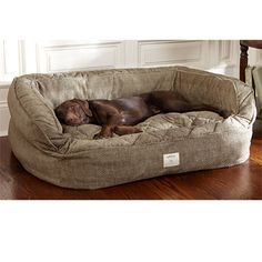 Dog Bed With Bolster / Lounger Deep Dish Dog Bed