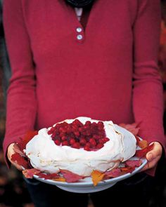 Cranberry and Vanilla Pavlova Recipe