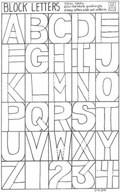 Block Letter Coloring Pages Lovely Capital Alphabet Letters Free Printable Block Letters and High School Art, Middle School Art, Art Handouts, Alphabet Templates, 5th Grade Art, Creative Lettering, Lettering Ideas, Lettering Styles, Art Worksheets