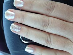 Gel manicure .. Love the shape of nail
