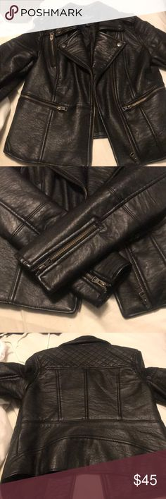 American Eagle VEGAN leather jacket Excellent condition. Hardly worn. Thick vegan leather jacket. Thick and keeps you warm. Stylish and edgy and sexy American Eagle Outfitters Jackets & Coats