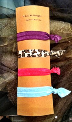 Designer ouch-less, creaseless hair ties on Etsy, $3.50
