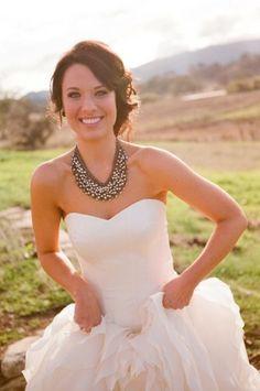 75383f6edea11b Simple dress country necklace Wedding Bells