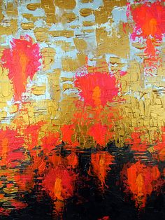 Abstract Expressionism Painting on canvas knife painting