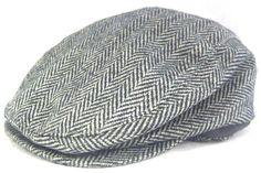 227d216322a Broner Hat Driving Cap with Ear Flaps Wool Blend Gray Herringbone Size  Medium  Broner
