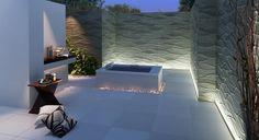 "CGI 3D Visualisation of the ""urban garden"" area of a UK development"