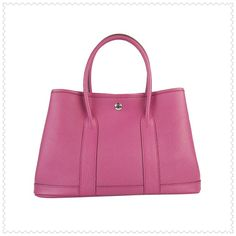 Pink Hermes Garden Party Tote Bag